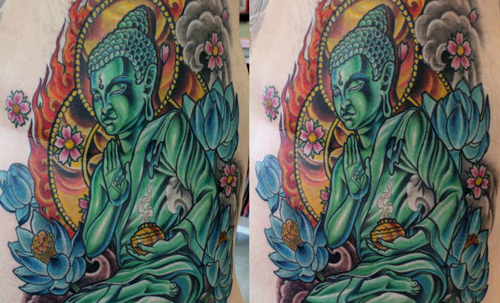 This our second to last tattoo session on Dave 39s Buddha tattoo