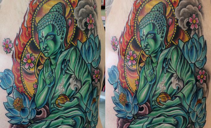 Dave's Buddha tattoo