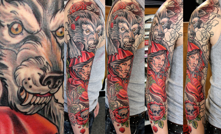 Little Red Ridding Hood Tattoo
