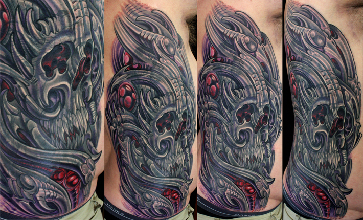 Biomechanical Skull Cover up.