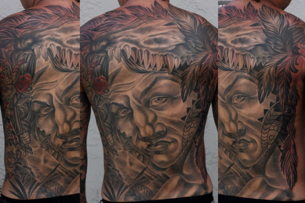 San Diego Tattoo Artist - Terry Ribera - Custom Warrior Tattoo
