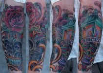 San Diego Tattoo Artist - Terry Ribera with Sugar Skull Lantern
