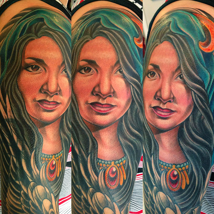 Custom Portait Tattoo San Diego's Best Color Artist Terry Ribera